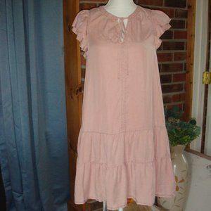 Knox Rose Flutter Short Sleeve Ruffle Dress M
